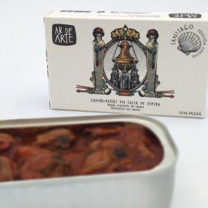 Etapa Santiago. Zamburiñas en salsa de vieira (12-16 pezas)