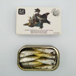 Etapa Fisterra. Sardinillas en aceite de oliva picantes (12-14 pezas)